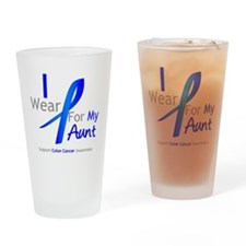 Colon Cancer Aunt Drinking Glass