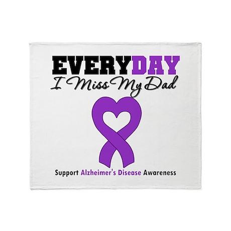 Alzheimer's MissMyDad Throw Blanket