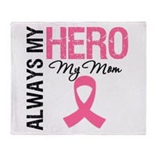 AlwaysMyHero Mom Throw Blanket