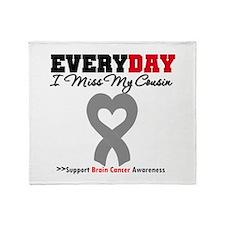Brain Cancer Cousin Throw Blanket