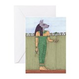 Egyptian cat card Greeting Cards (10 Pack)