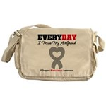 Brain Cancer Girlfriend Messenger Bag