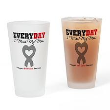 Brain Cancer Mom Drinking Glass
