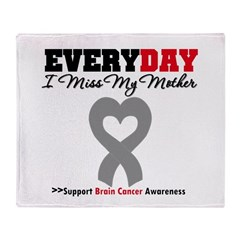 Brain Cancer Mother Throw Blanket