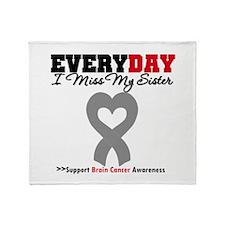 Brain Cancer Sister Throw Blanket