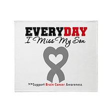 Brain Cancer Son Throw Blanket