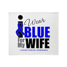 IWearBlue Wife Throw Blanket