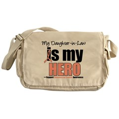 Endometrial Cancer Hero Messenger Bag