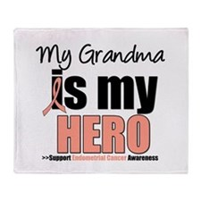EndometrialCancerGrandma Throw Blanket