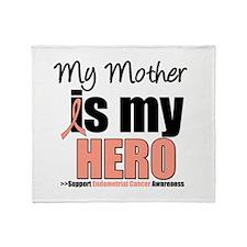 Endometrial Cancer Hero Throw Blanket