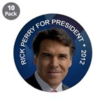 "Rick Perry 2012 3.5"" Button (10 pack)"