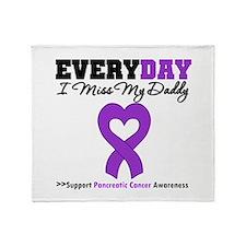 PancreaticCancer Daddy Throw Blanket