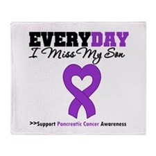 PancreaticCancerSon Throw Blanket