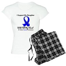 ColonCancerHeart Daughter Pajamas
