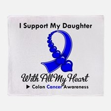 ColonCancerHeart Daughter Throw Blanket