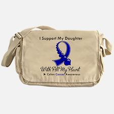 ColonCancerHeart Daughter Messenger Bag