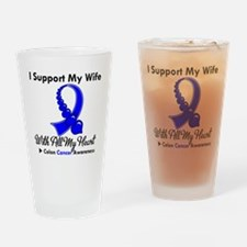 ColonCancerHeart Wife Drinking Glass