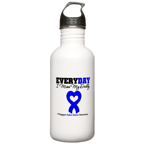 ColonCancerHeart Daddy Stainless Water Bottle 1.0L
