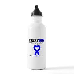 ColonCancerHeart Husband Water Bottle