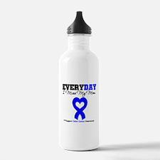 ColonCancerHeart Mom Water Bottle