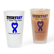 ColonCancerHeart Sister Drinking Glass