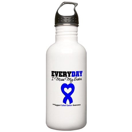 ColonCancerHeart Sister Stainless Water Bottle 1.0