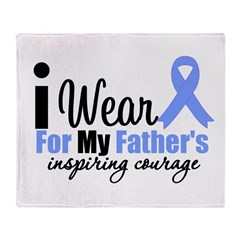 Prostate Cancer FATHER Throw Blanket