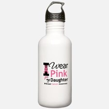 I Wear Pink Daughter Water Bottle