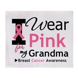 I wear pink for my grandma Fleece Blankets