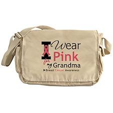 I Wear Pink Grandma Messenger Bag