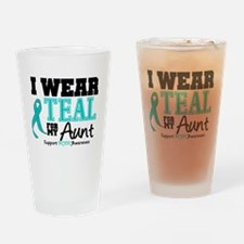 IWearTeal Aunt Drinking Glass