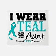 IWearTeal Aunt Throw Blanket
