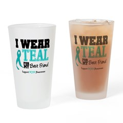IWearTeal Best Friend Drinking Glass