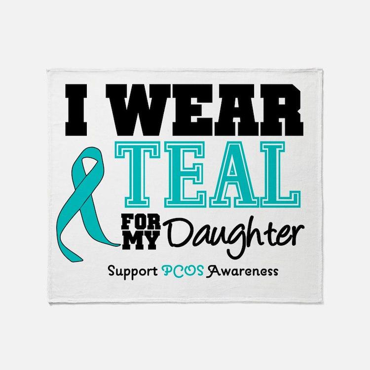 IWearTeal Daughter Throw Blanket