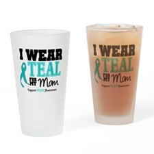 IWearTeal Mom Drinking Glass