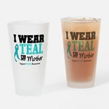 IWearTeal Mother Drinking Glass