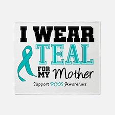 IWearTeal Mother Throw Blanket