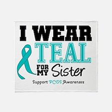 IWearTeal Sister Throw Blanket