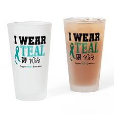 IWearTeal Wife Drinking Glass