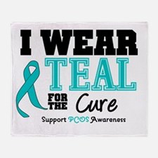 IWearTeal For The Cure Throw Blanket
