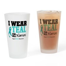 I Wear Teal Warriors Drinking Glass
