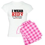 I Wear Red Grandpa Women's Light Pajamas
