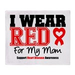 I Wear Red Mom Throw Blanket
