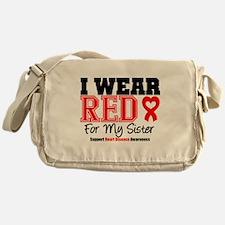 I Wear Red Sister Messenger Bag