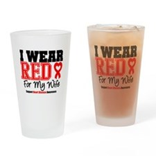 I Wear Red Wife Drinking Glass