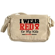 I Wear Red Wife Messenger Bag