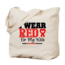 I Wear Red Wife Tote Bag