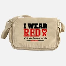 I Wear Red to Win Messenger Bag