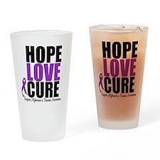 HopeLoveCure Alzheimer's Drinking Glass