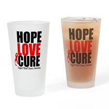 HopeLoveCure Blood Cancer Drinking Glass